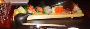 fluke, King salmon, BBQ Eel,  shrimp & Japanese egg