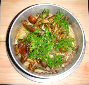 Shoyu Truffle Butter rice with mixed mushroom