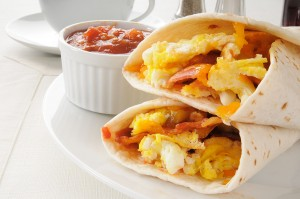 Breakfast burritos, Hamptons breakfast