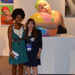 Dani Leggard & artist Carole Feuerman @ Art Hamptons