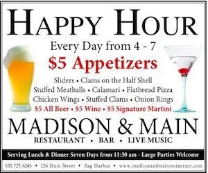 Madison and Main happy Hour