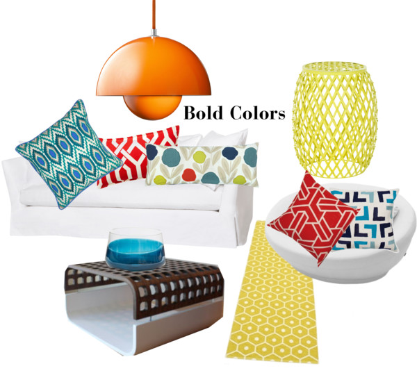 Add Bold Colors gives Energy to a room