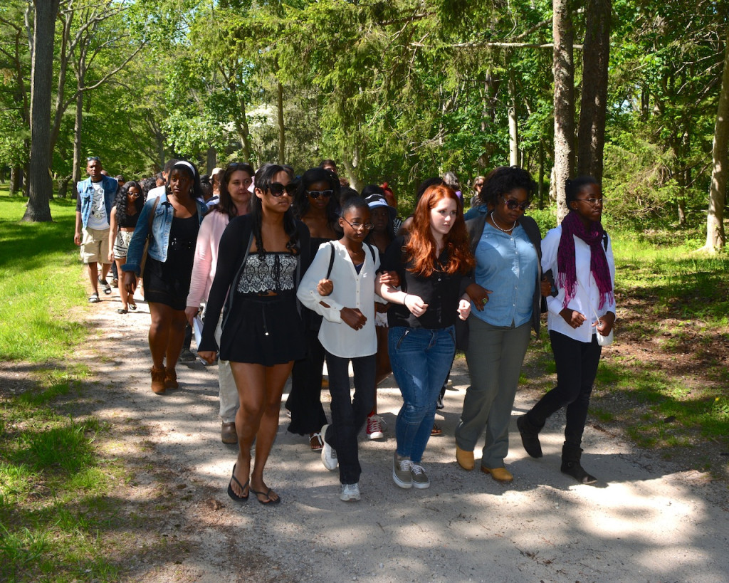 Walking to the burial ground