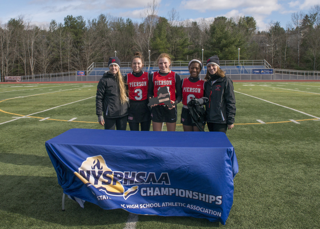 "- NYSPHSAA Field Hockey Class ""C"" Semi-FINALIST Plaque.   Bethany Semlear, Head Coach,  CAPTAINS(3)  Kerrie Vila #3, Ana Sherwood #14, Allura Leggard #6, Kayla Yardley, Assistant Coach"